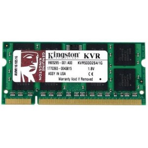 Kingston 1GB 533MHz SO-DIMM Notebook Memory (KVR533D2S4/1G)