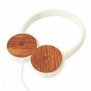 Hoomia U3WOOD Headphone with Microphone White +Wood
