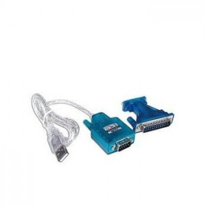 Unbranded USB2SER USB to 9 Pin Serial Cable 1.8m + 9 pin to 25 pin Converter
