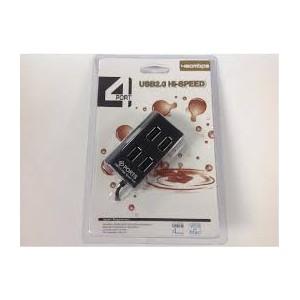 USB 4 PORT HUB VER 2.0 BLACK
