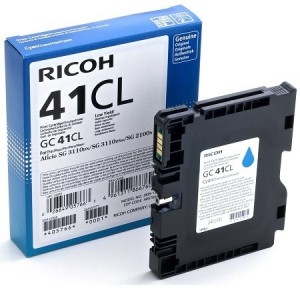 RICOH CYAN CARTRIDGE WITH YIELD OF 600 P  GC41CL