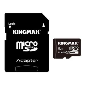 Kingmax KM08GMSDHC101A  microSDHC 8GB + Adapter Class 10