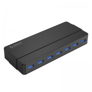 Orico 7 Port USB3.0 Desktop HUB 12V3A Power Adapter (H7928-U3-V1-SA-BK)