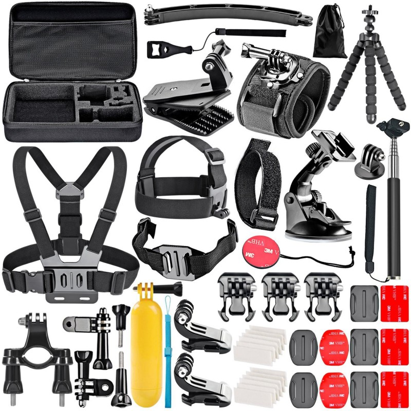 Go Pro Ultimate Combo Kit - 50-In-1 Action Camera Accessory Kit for GoPro Hero 4/5 Session, Hero 1/2/3/3+/4/5 Cameras