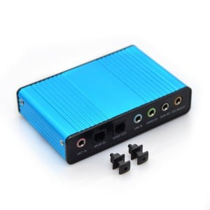 6 Channel External Sound Card 5.1 Surround Sound USB 2.0