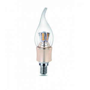 CE140 LED CANDLE LIGHT 4W E14 CLEAR 2700