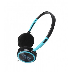 Astrum HS210, Stereo Headsets, Headset Wire Mic Light Blue 3.5mm stereo plug Cable Length 1.2m