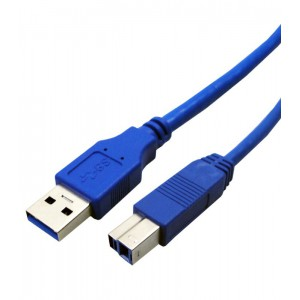 USB3.0 CABLE 1.8M TYPE A-B PRINTER BLACK