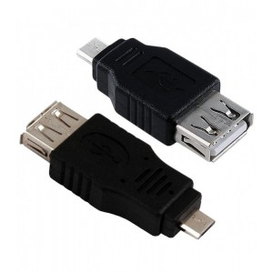 PASSIVE ADAPTER MICRO USB - USB M-F BLACK