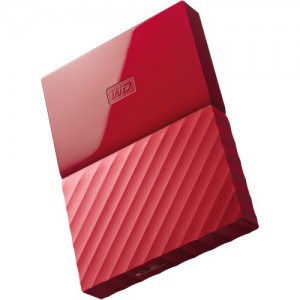 Western Digital 1TB My Passport USB Secure Portable Hard Drive - Red (WDBYNN0010BRD-WESN)