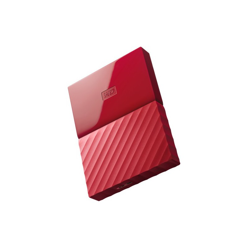 Western Digital 1TB My Passport USB Secure Portable Hard Drive - Red