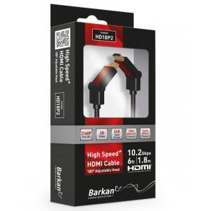 Barkan HD18P2 Barkan 1.8M pure copper swivel head HDMI cable