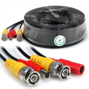 CCTV Cable Combi Cable Coax BNC RG59 + Power Adaptor-20m
