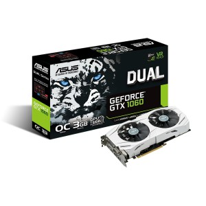 ASUS Dual series GeForce GTX 1060 OC edition/PCI-E 3.0/3GB GDDR5/Engine Clock 1785 MHz