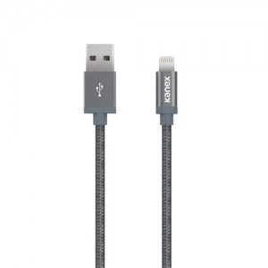 Kanex Lightning USB ChargeSync Premium 2m Cable Space Grey (K8P6FPSG)