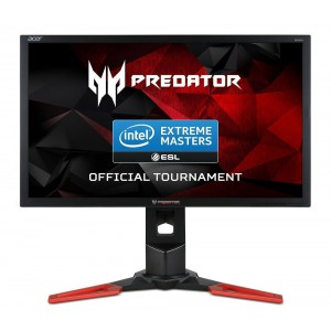 Acer Predator XB241Hbmipr 24-Inch Wide LED Gaming Monitor with Foot Stand - Black/Red