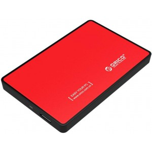 Orico 2.5' USB3.0 External HDD Enclosure Red (2588US3-V1-RD)