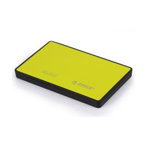 Orico 2.5' USB3.0 External Hard Drive Enclosure Yellow (2588US3-V1-OR)