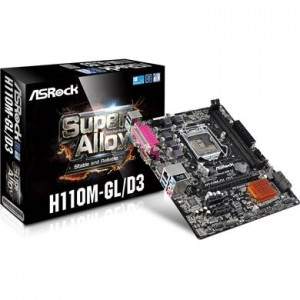 ASROCK H110 GL/D3 LGA 1151 MATX MB (H110M-GL/D3)
