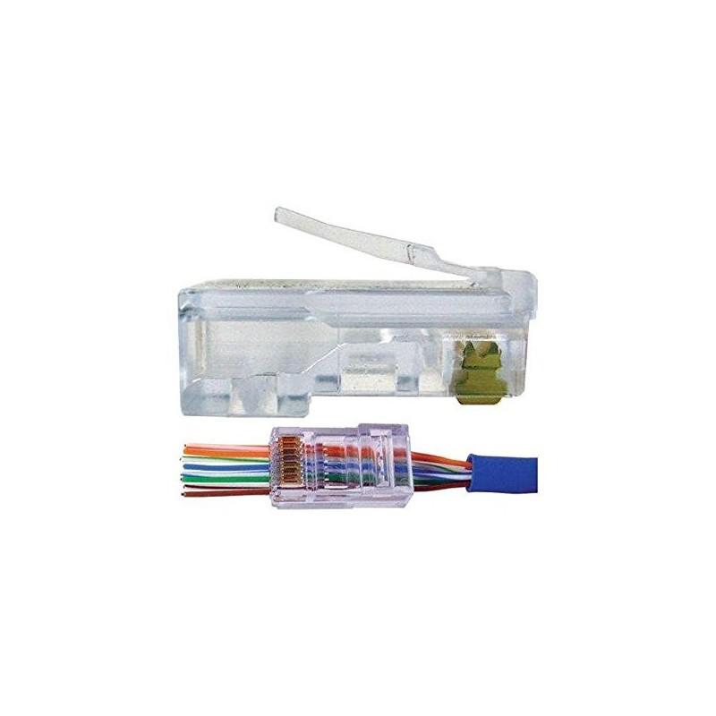 wiring rj45 modular plug ubigear cat5e rj45 network cable pass through modular plug ...