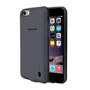 Romoss EnCase Power Bank and Cover for iPhone 6S - 3200mAh (Black)