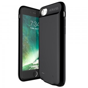 Romoss EnCase Power Bank and Cover for iPhone 7 - 2800mAh (Black)
