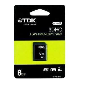 SDHC FLASH MEMORY CARD 8GB TDK