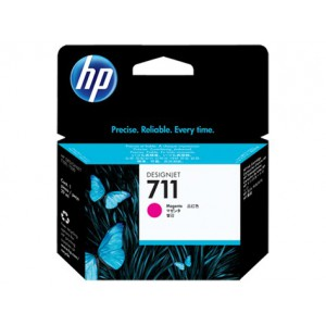 HP 711 MAGENTA INK CART DJET T120 SERIES (29ML) CZ131A