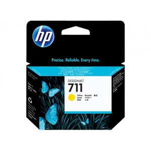 HP 711 YELLOW INK CART DJET T120 SERIES (29ML) CZ132A