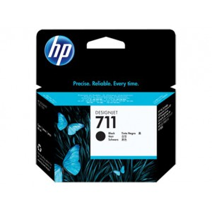HP 711 BLACK INK CART FOR DJ T120 SERIES (80ML) CZ133A