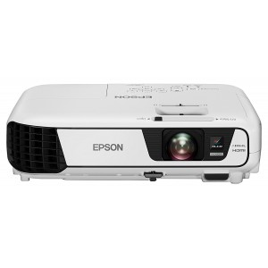 Epson EB-W31 Portable Widescreen Projector (WXGA, 3LCD, 15000:1 Contrast, 3200 Lumens, 10,000 Hour Lamp Life) - White
