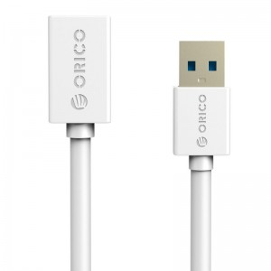 Orico USB3.0 AM to AF Round Cable White 1.5m CER3-15-V1-WH