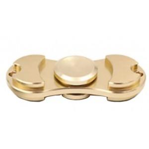 Aluminum Fidget Hand Spinner Torqbar Style EDC Finger Tip Rotation Anxiety Toy - Gold