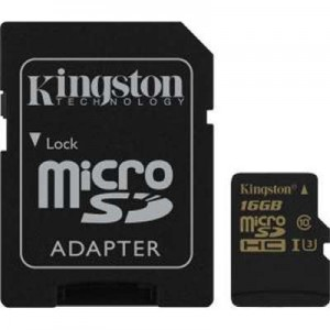 Kingston 16GB microSDHC Class U3 UHS-I 90R/45W + SD Adapter SDCG/16GB