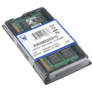 KINGSTON 1024MB 400MHZ DDR2 NON-ECC NOTEBOOK KVR400D2S3/1G