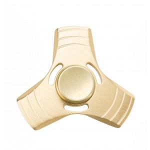 Fidget Hand Tri-Spinner Anxiety Toy - Gold