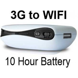 A2 3G Mifi Portable Wifi Wireless Router (Battery, USB, AC Power)