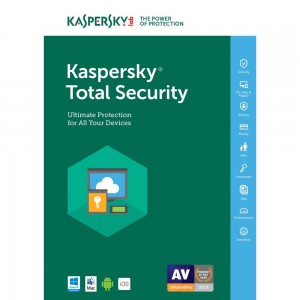 MD DEVICE 4 USER AV+IS 1 YEAR DVD KASPERSKY TOTAL SECURITY 2017 4 USER 1 YEAR DVD
