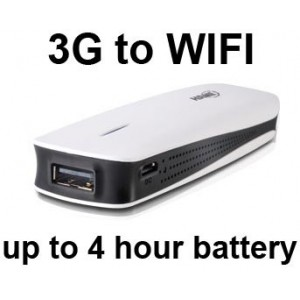 A1 3G Mifi Portable Wifi Wireless Router (Battery, USB, AC Power)