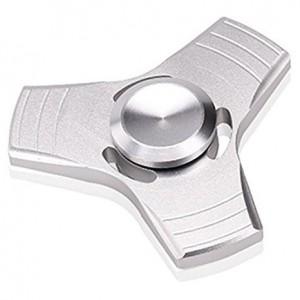 Fidget Hand Spinner - Aluminium - Tri Style (Silver)