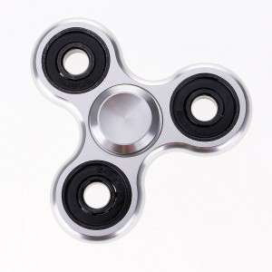 Aluminium Fidget Hand Tri-Spinner Anxiety Toy - Silver
