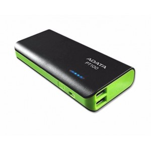 Adata PT100 10000mah Power Bank (Black/Green)