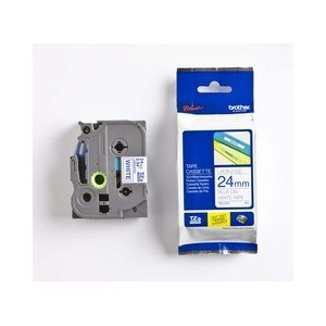Brother 24MM Blue on White Laminated tape TZ253