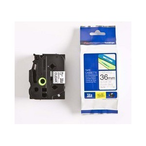 Brother 36MM Black on Clear Laminated tape TZ161