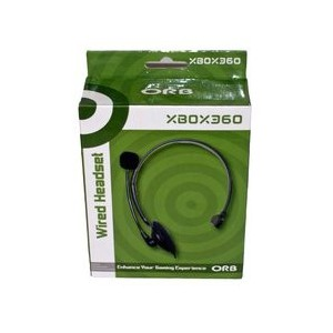 Orb Xbox360 Wired Chat Headset Black ORB020404