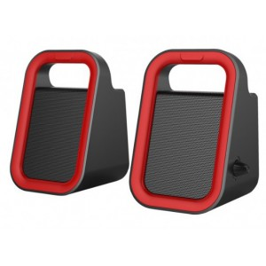 SU160 SPEAKER 2.0CH USB POWER 3.5MM RED