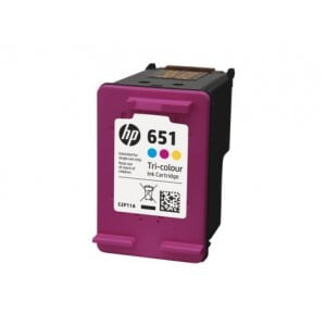 HP 651 TRI-COLOUR INK CARTRIDGE 5575/5645 YIELD 300 C2P11AE
