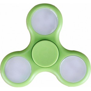 Fidget Hand Spinner - with LED Flashing Lights (Green)