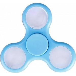 Fidget Hand Spinner - with LED Flashing Lights (Light Blue)