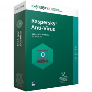 KASPERSKY ANTI-VIRUS 2017 4 USER 1 YEAR DVD